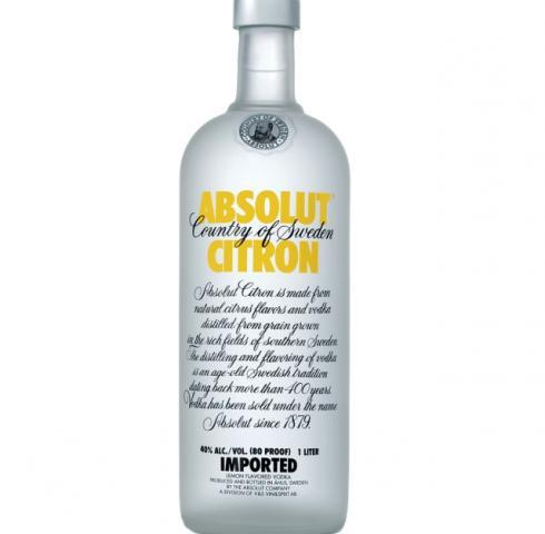 водка Абсолют 1л. Лимон