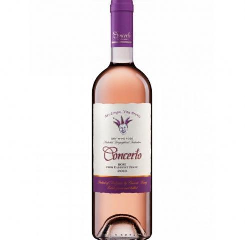 вино Кончерто 750мл Розе от Каберне Фран 2013