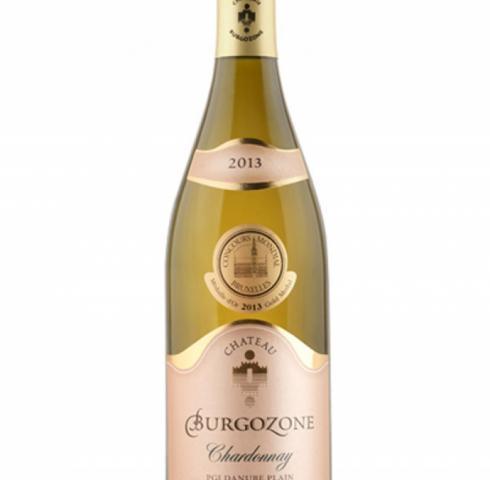 вино Шато Бургозоне 750мл златен етикет Шардоне 2013