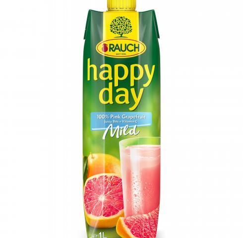 натурален сок Раух Хепи Дей 1л Розов Грейпфрут