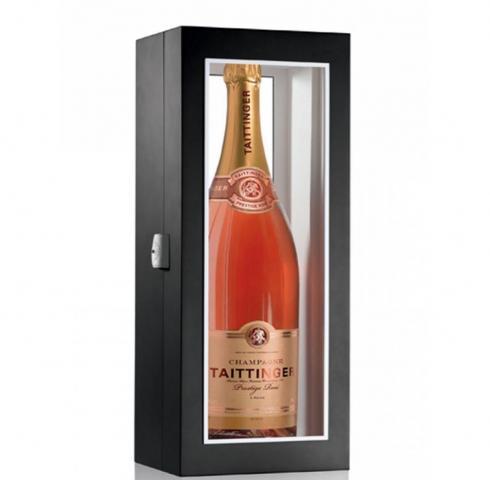 шампанско Тетанже Престиж 3000л Розе  NV в черна дървена кутия