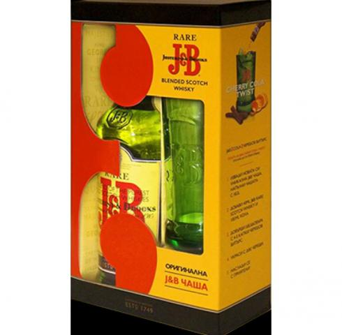 уиски Джей енд Би 700мл с висока чаша