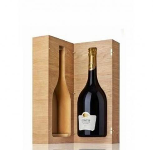шампанско Тетанже 750мл Конт де Шампан Блан де Блан Брут Винтидж 2006г в масивна дървена кутия
