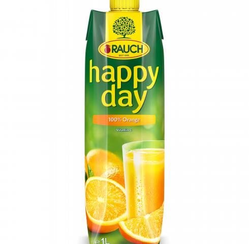 натурален сок Раух Хепи дей 1л Портокал С по-мек вкус