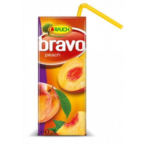 натурален сок Браво 200мл Праскова 25%
