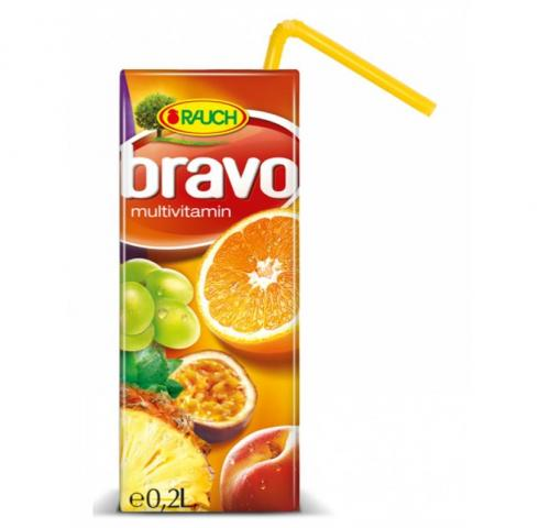 напитка Браво 200мл Мултивитамин 50%