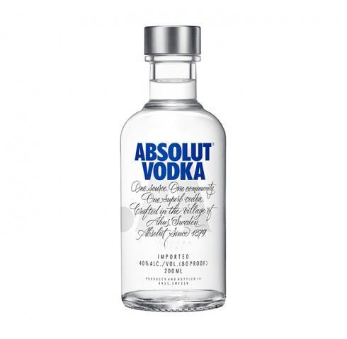 водка Абсолют 200мл син
