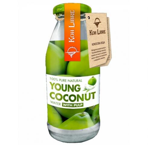 Кох Либре 250мл Сок от млад кокос с парченца плод