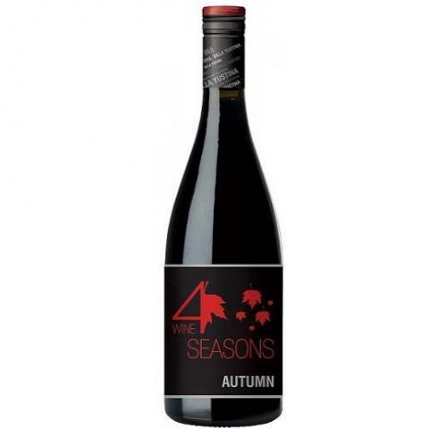 вино вила Юстина Четири сезона Есен 750мл Пино Ноар 2013