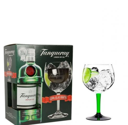 джин Танкюери 700 мл. с чаша