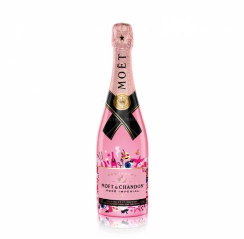 шампанско Моет Шандон 750мл Розе Империал стикери емотикони лимитирана бутилка