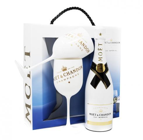 шампанско Моет и Шандон Брут Империал 750мл Айс с две чаши