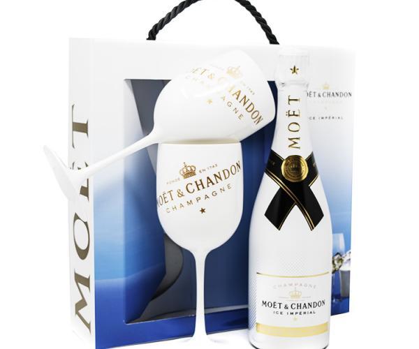 шампанско Моет и Шандон Брут Империал 750мл Айс с две чаши p1