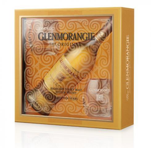 уиски Гленморанджи 700мл 10г в празнична кутия с 2 чаши