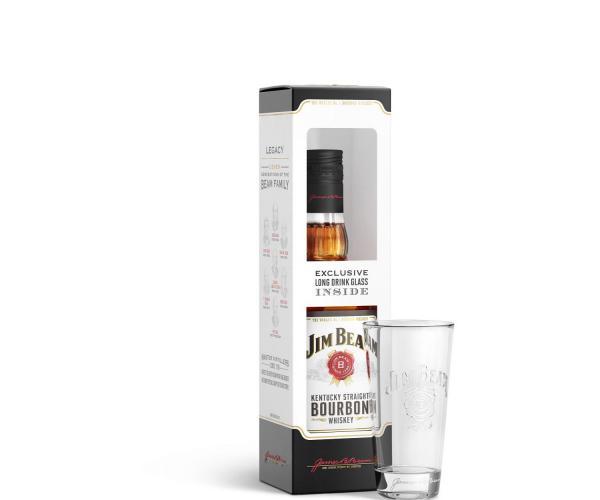 уиски Джим Бийм 700мл с чаша p1