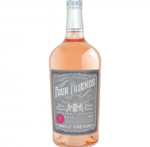 вино Фоур Френдс 1л Розе 2017г