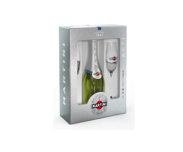 пенливо вино Мартини Асти 750мл с 2 чаши p1