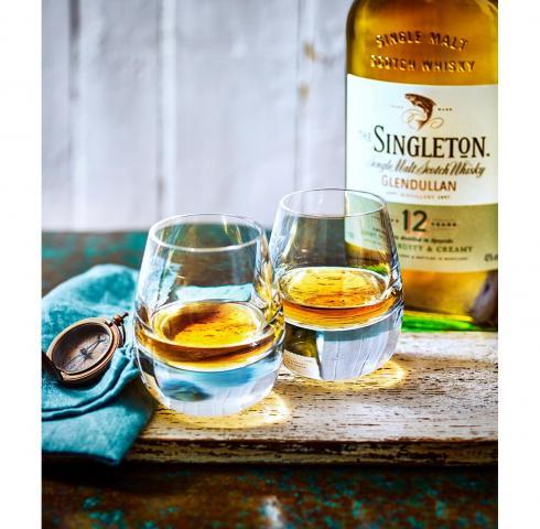 уиски Сингълтън 700мл Дъфтаун 12г сингъл малц с чаша и форма за лед m2