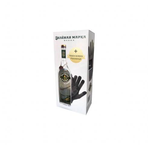 водка Зельоная марка 700мл Традиционна с подарък ръкавици