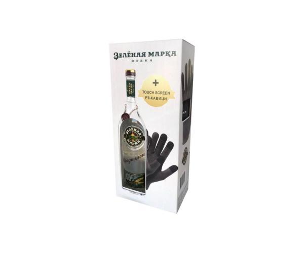 водка Зельоная марка 700мл Традиционна с подарък ръкавици p1