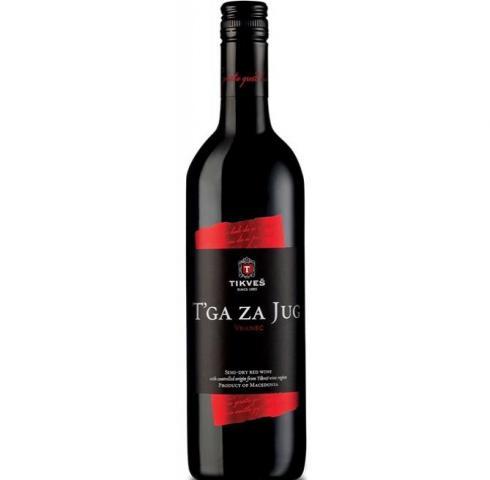 вино Тиквеш 750мл Тъга за Юг Червено