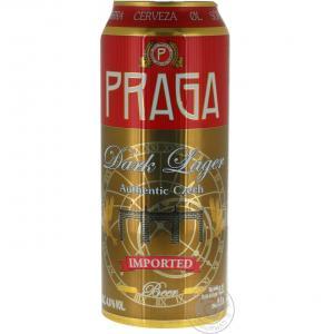 бира Прага 500мл Тъмно Лагер кен  m1