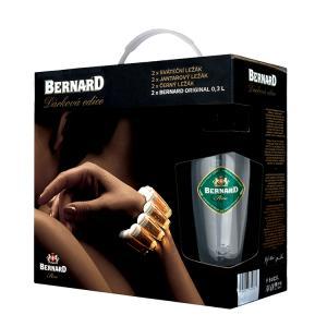 Бира Бернард Суинг Пакет 6 бири  (светла, червена, тъмна + 2 чаши) 500мл m1