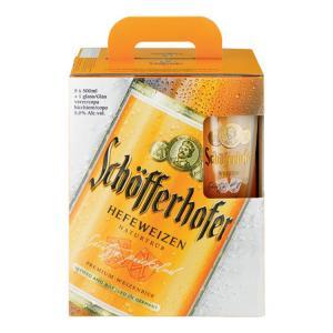 бира Шоферхофер Хефевайс 5+чаша 500мл m1