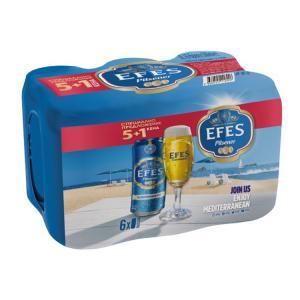 бира Ефес Пилзнер 5+1 500мл КЕН m1