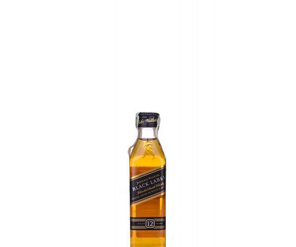 уиски Джони Уокър 50мл 12г блек лейбъл  p1