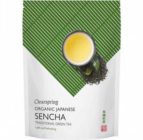 Био японски чай Клиърспринг 90г Сенча Зелен