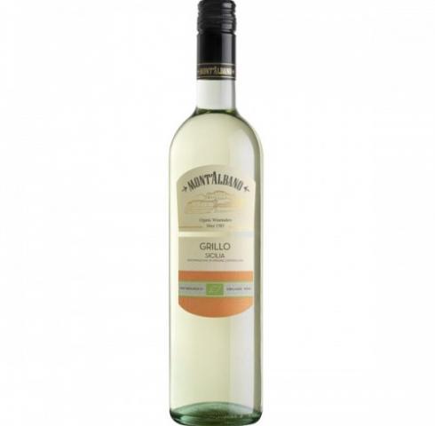 БИО вино Монт Албано 750мл Грилло Бяло