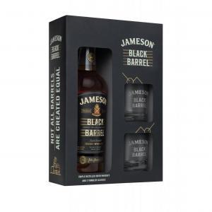 уиски Джеймисън 700мл Блек Барел с 2 ЧАШИ m1