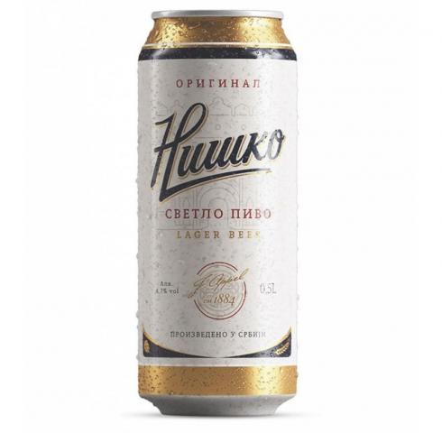 бира Нишко пиво 500мл КЕН