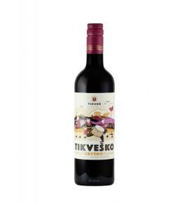 вино Тиквеш 750мл Червено Вранец и Мерло