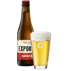 бира Супер 8 Експорт Светла 330мл Бутилка