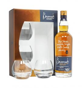 Уиски Бенромах 10г. с 2 чаши 700мл