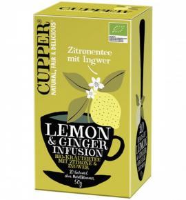 Био чай Купър 50г Лимон и Джинджифил