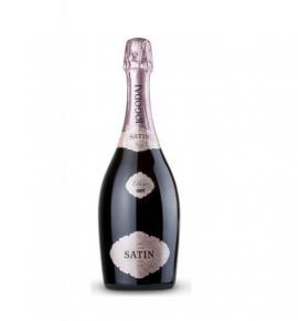 естествено пенливо вино Сатен 750мл Розе широка Мелнишка лоза