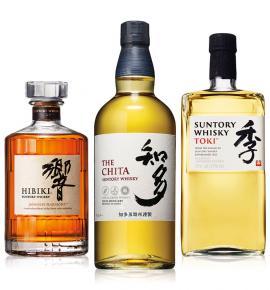 японски уиски СЪНТОРИ ПАКЕТ 700МЛ Токи, Чита и Хибики