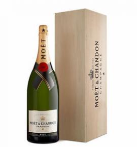 шампанско Моет и Шандон Брут Империал 3л Джеробом подаръчна кутия
