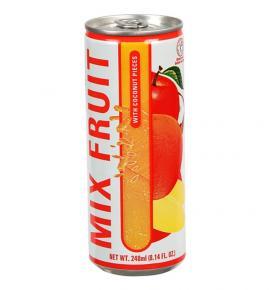 плодова напитка Делос 240мл Миксфрут с парченца Кокос КЕН