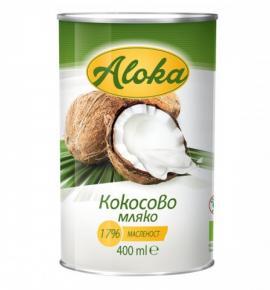 БИО кокосово мляко Алока 400мл 17% масленост