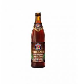 бира Пауланер 500мл Хефевайс Дънкел Стъклена бутилка