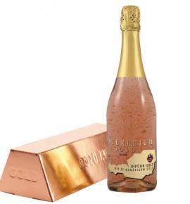 пенливо вино Йостерайх 750мл Голд Розе 23К злато с кутия