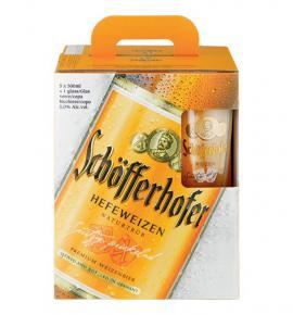 бира Шоферхофер Хефевайс 5+чаша 500мл
