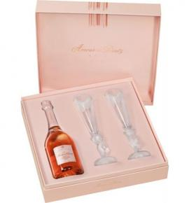 шампанско Дютц 750мл Амур де Розе Кюве с 2 чаши КУТИЯ