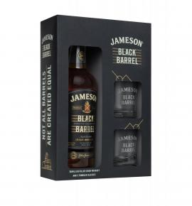 уиски Джеймисън 700мл Блек Барел с 2 ЧАШИ