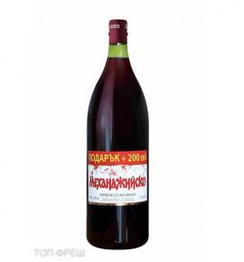 Вино Механджийско 2,2л Червено