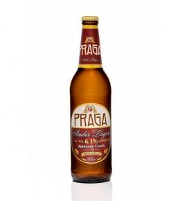 бира Прага 500мл Амбър Лагер бутилка